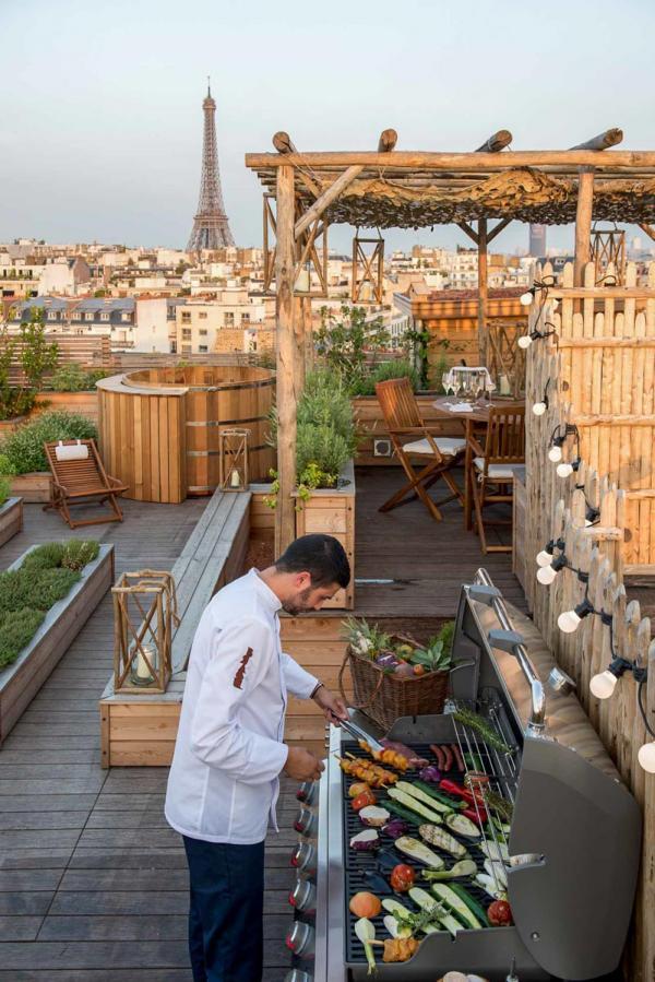 Potager sur le toit du Brach Hôtel Paris © Guillaume de Laubier