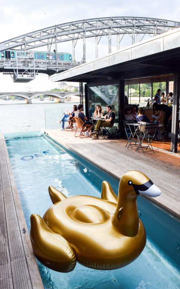 Le bassin du OFF et son canard © Yonder.fr