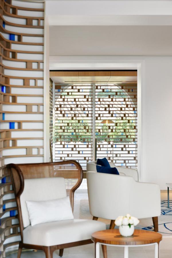 Cheval Blanc Saint-Tropez - Détail de décoration dans le lobby © V Mati