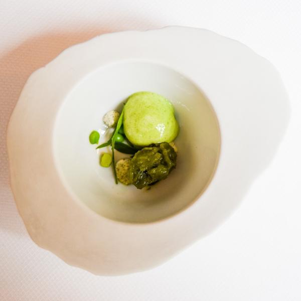 Sorbet à l'oseille et petits pois pour accompagner les fraises © Yonder.fr