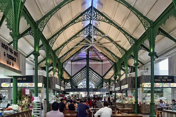 A l'intérieur de Lau Pa Sat, l'un des plus célèbres food courts de la ville | © Flickr CC - Choo Yut Shing