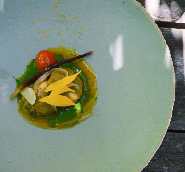 Les tournesols au vermouth et petits légumes © Pierre Gunther