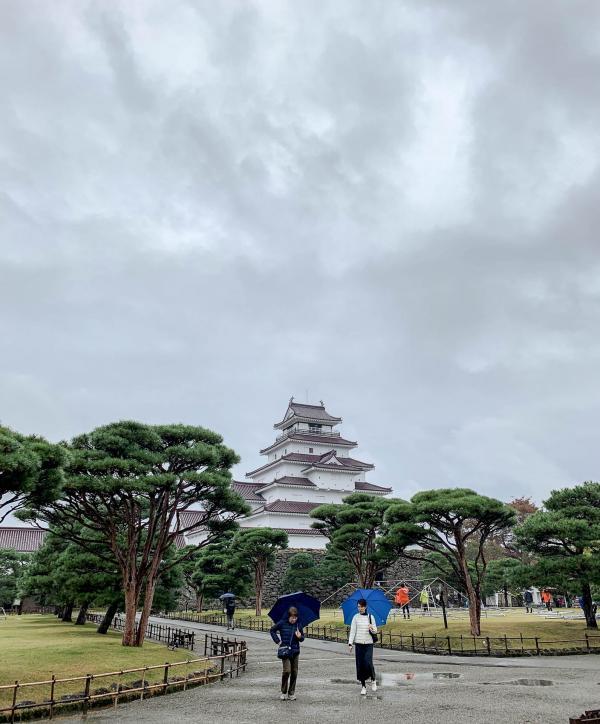 Le château d'Aizuwakamatsu. © Pierre Gunther