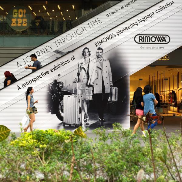 Les marques sont omniprésentes sur Orchard Road | © Yonder.fr