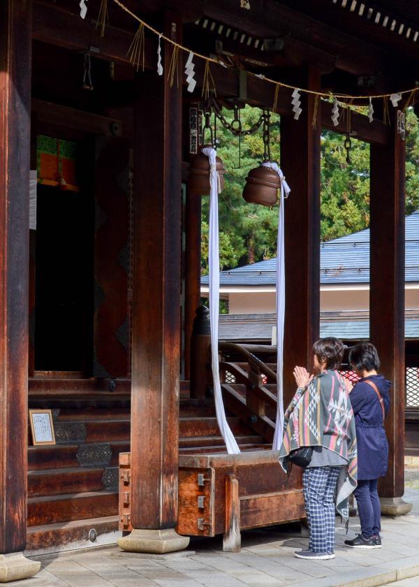 Le sanctuaire Uesugi à Yonezawa accueille de nombreux fidèles.© Pierre Gunther