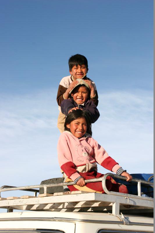 Enfants dans la région d'Uyuni © Tak