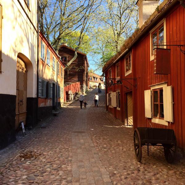 Maisons historiques dans le parc de Skansen sur l'île de Djurgården © Yonder.fr