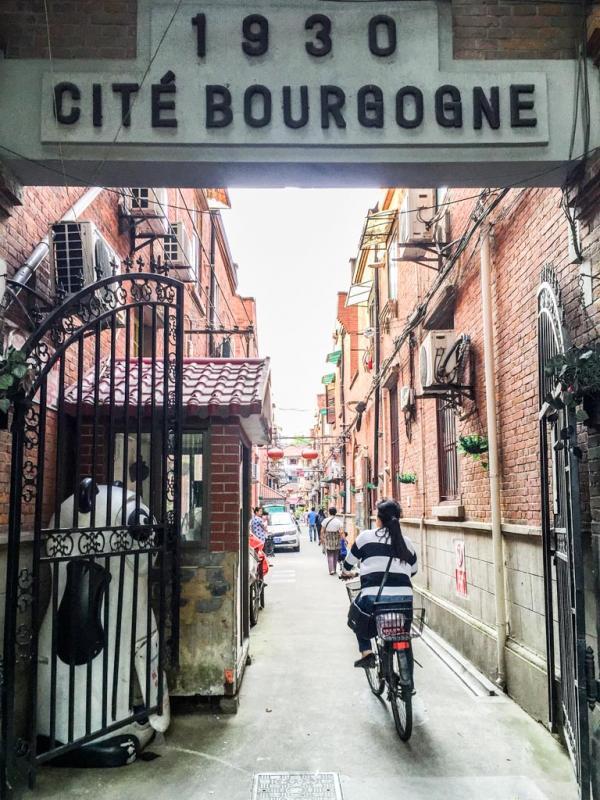 La fameuse Cité Bourgogne dans la Concession Française © Yonder.fr
