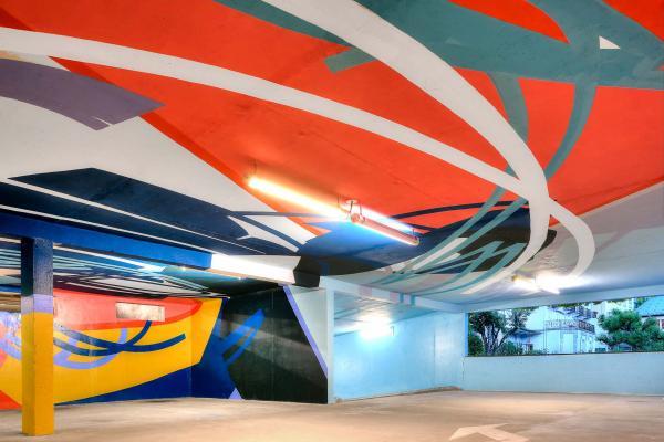 Saint-Gervais Mont-Blanc - Parking souterrain et street-art © Jean Yves Raffort