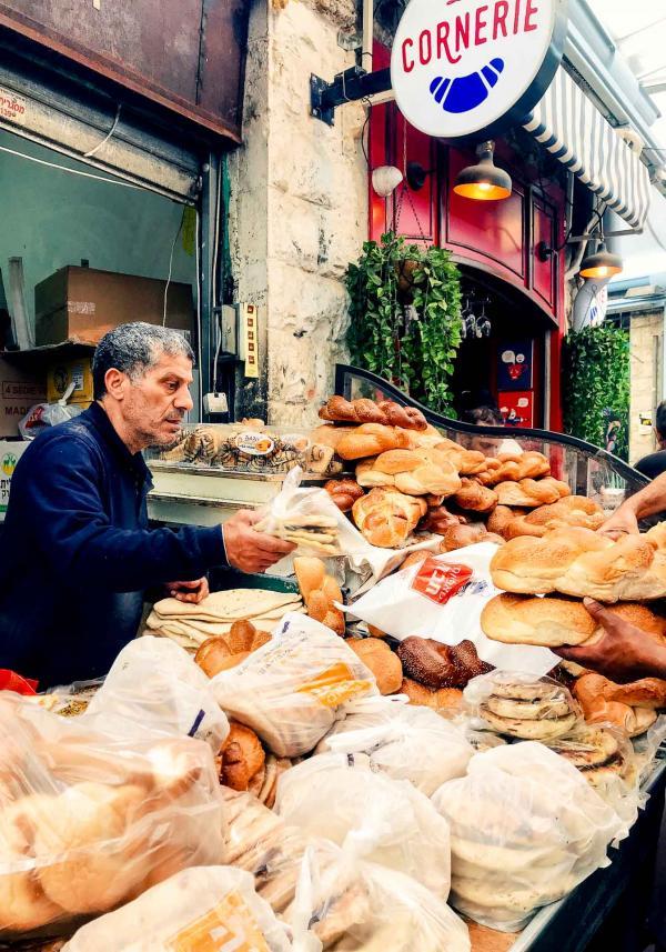 Le marché Mahane Yehuda, l'un des lieux les plus emblématiques de la ville © Camille Weyl