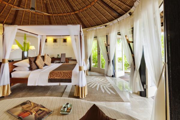 Un intérieur clair, frais et naturel caractérise les villas.