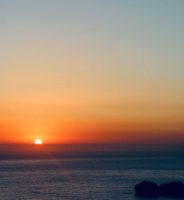 Coucher de soleil à Agios Gordios © Pierre Gautrand