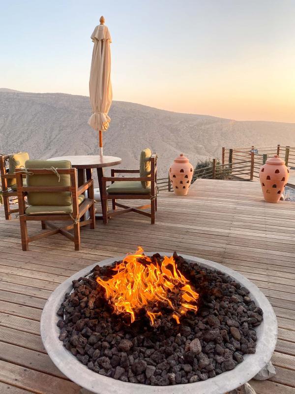 L'hôtel Alila Jabal Akhdar à Oman. © Emmanuel Laveran.
