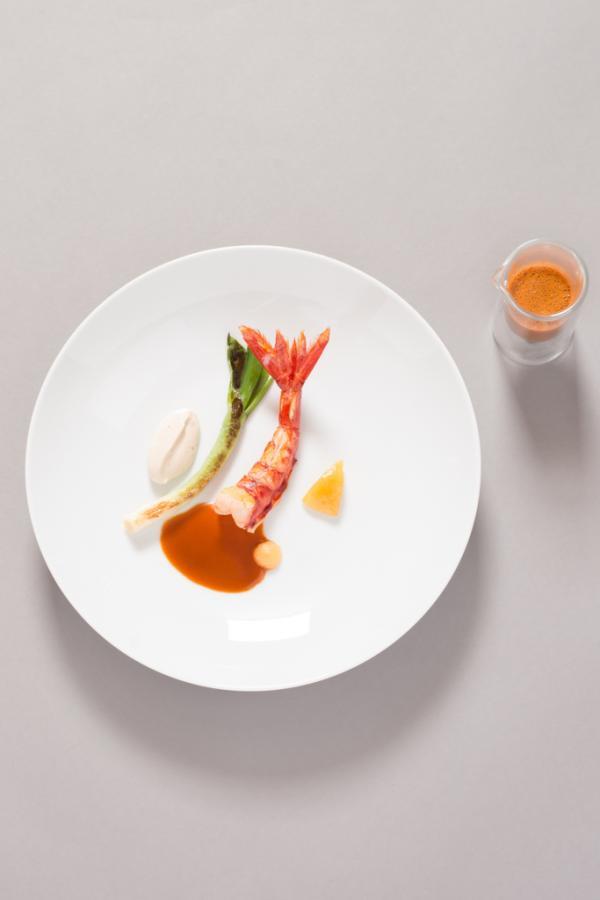 Création culinaire de Christophe Bacquié, l'un des chefs invités © C. Dutrey