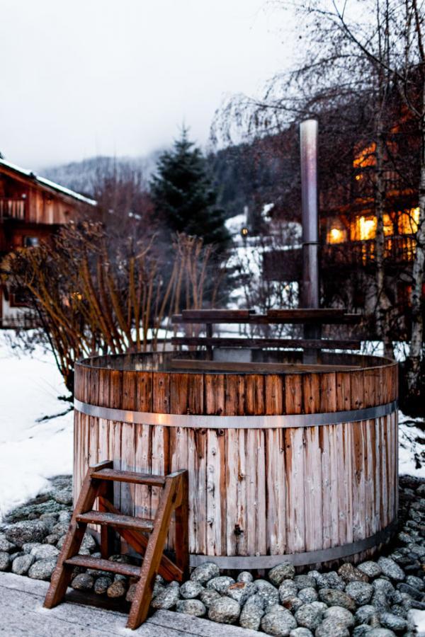 Bain suédois à l'hôtel Alpaga de Megève © Benoît Linero