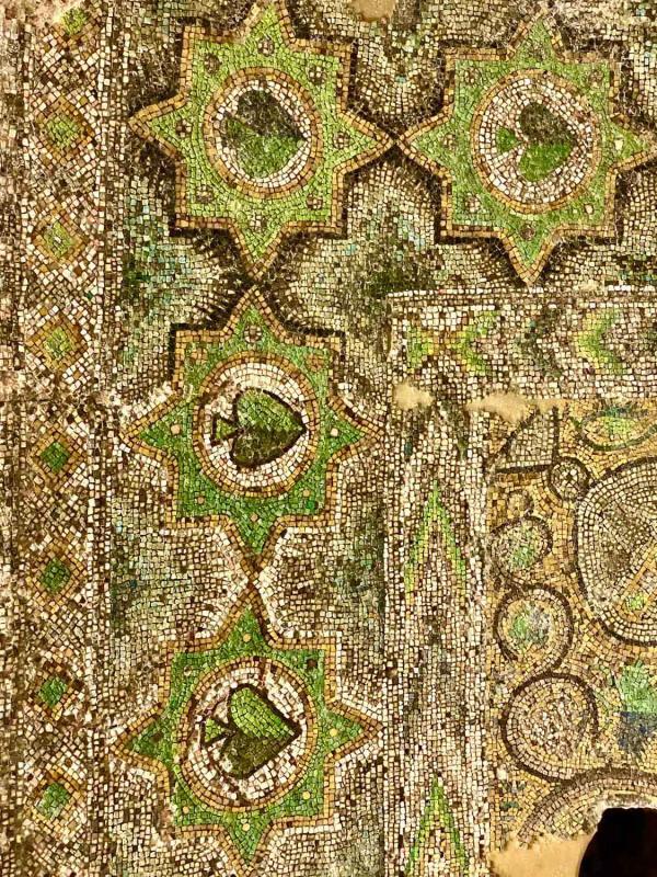 Détail de mosaïque byzantine au monastère de Mor Gabriel proche de Mardin © Emmanuel Laveran