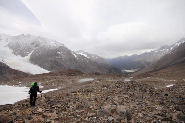 Ascension du Col depuis le Refugio Los Perros – Circuit O | © Cédric Aubert