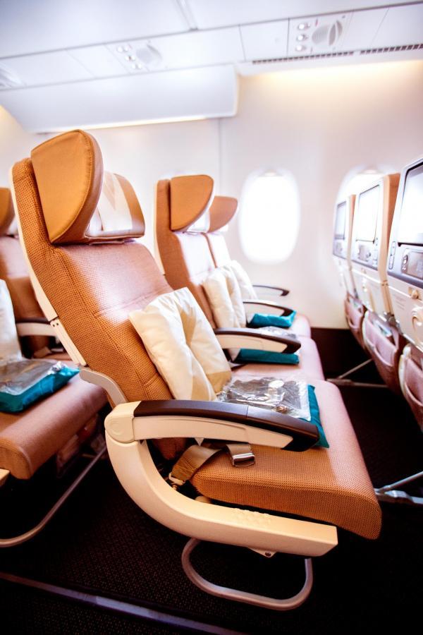 Les sièges Economy Smart Seats à bord de l'A380 © Etihad