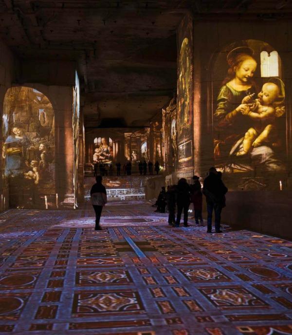Exposition immersive Renaissance aux Carrières des Lumières © Culturespaces - E. Venturelli