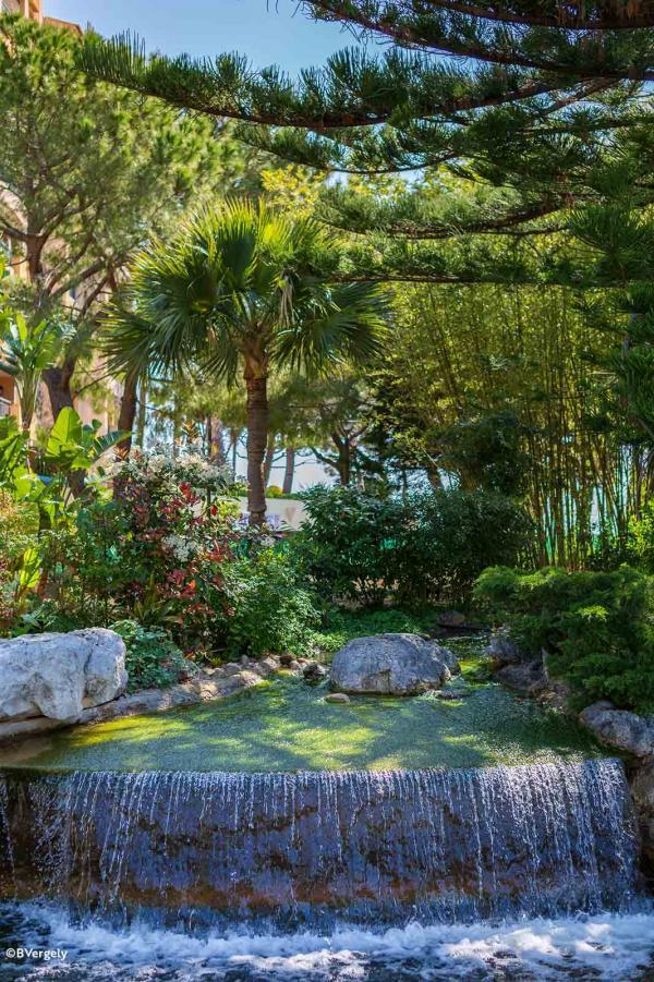 Fontaine du parc paysager de Fontvieille © B. Vergely