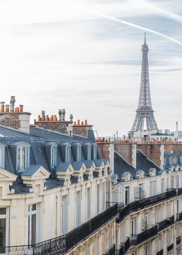 Grand Powers : vue sur la Tour Eiffel depuis les chambres de l'hôtel © Grand Powers