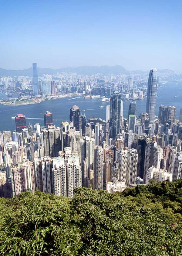 Vue sur la skyline hongkongaise depuis Victoria Peak © fazon – adobe.stock.com