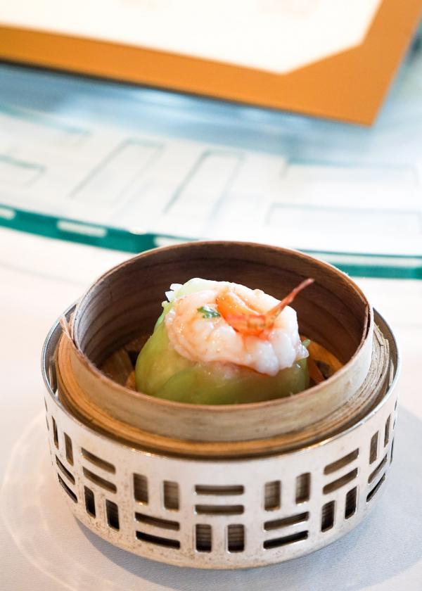 Le dimsum qui ouvre le repas au restaurant Lung King Heen © MB/YONDER.
