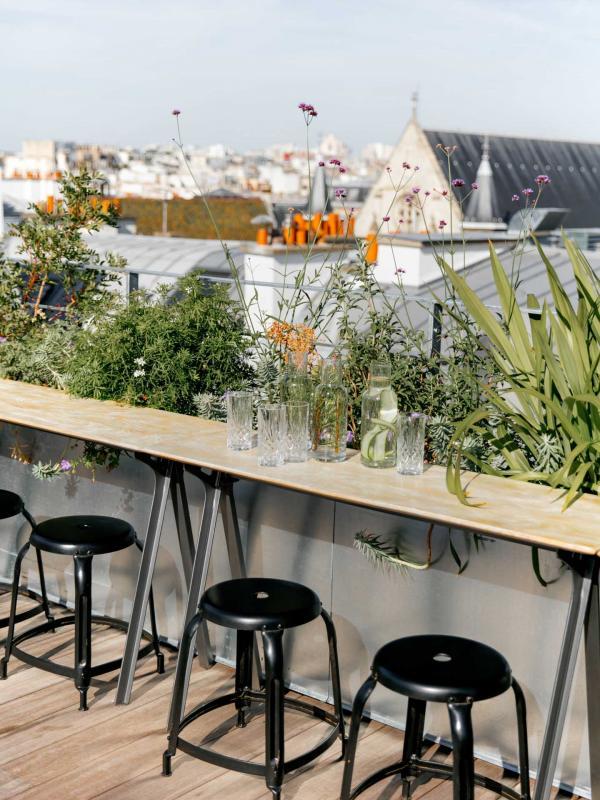 Le rooftop de l'Hôtel National des Arts et Métiers © Jérôme Galland