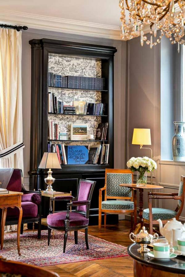 Les Hauts de Loire – Salon de l'hôtel © Fabrice Rambert