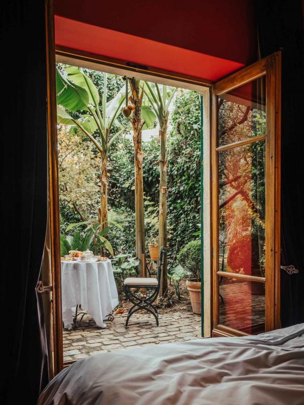 Jardins Secrets (Nîmes) – Terrasse d'une chambre © DR