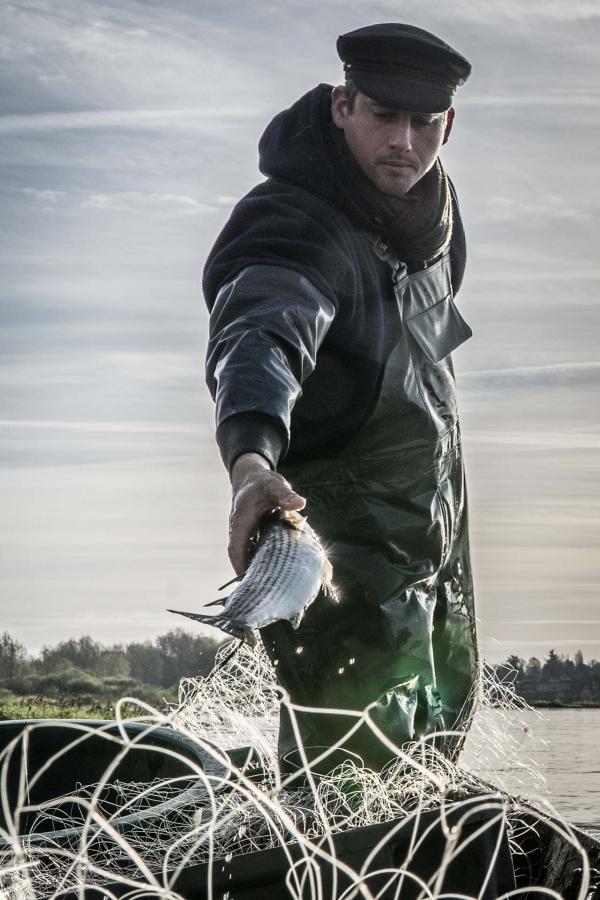 Le pêcheur ligérien Sylvain Arnoult © Julie Limont