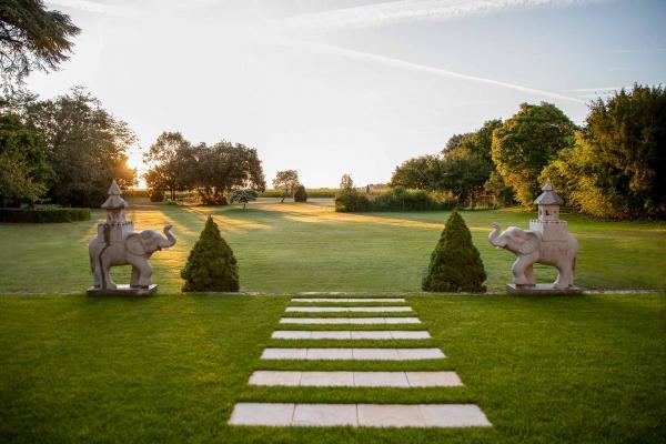 La Maison d'Estournel dont le parc s'étend sur plus de 2 hectares © G. Gardette