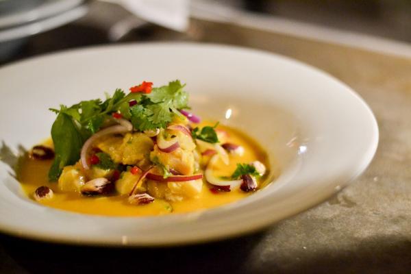 Sucre Restaurant & Grill - Ceviche de sole, oignon rouge, radis et coriandre © Mélissa Leroux