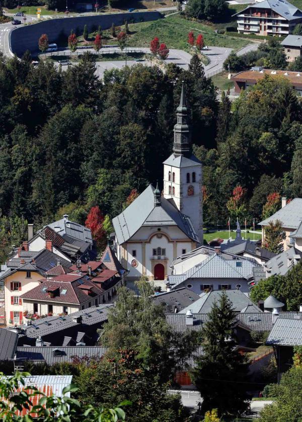 Le centre-ville de Saint-Gervais Mont-Blanc © OTSaint-Gervais - Pascal Deloche
