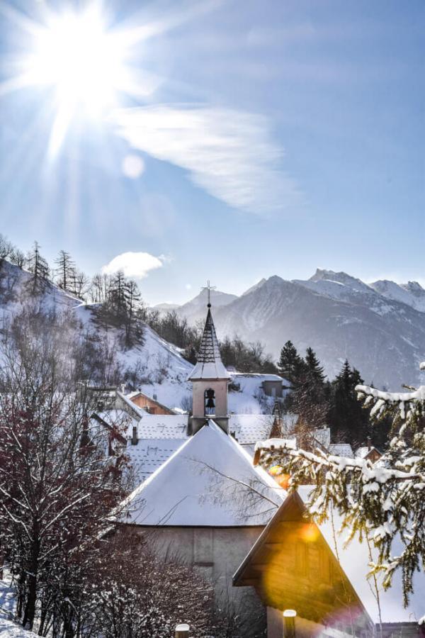 Serre Chevalier sous la neige © Laura Peythieu