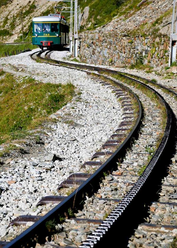 Tramway du Mont Blanc et rails de la crémaillère © OT Saint-Gervais Studio Buonaventura