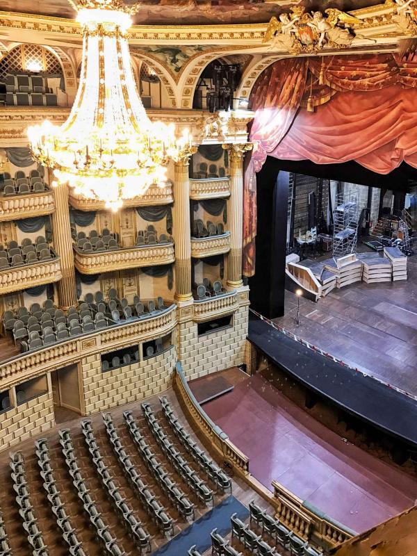 À l'intérieur du Grand-Théâtre de Bordeaux, l'une des plus belles salles de spectacle du XVIIIème siècle © YONDER.fr