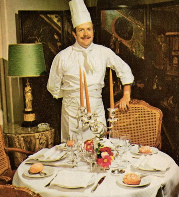 Le chef triplement étoilé Claude Deligne dirigea les cuisines de Taillevent de 1973 à 1990 © DR