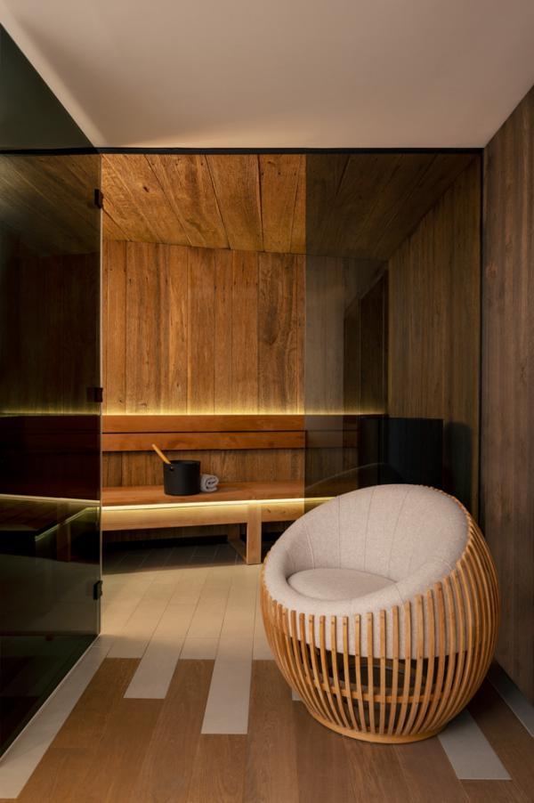 Cœur de Megève — sauna © Vincent Leroux