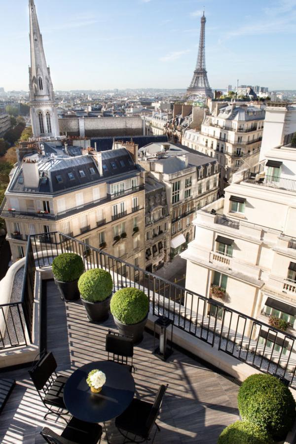 Four Seasons Hotel George V Paris – Vue d'une suite Penthouse © Four Seasons Hotels and Resorts