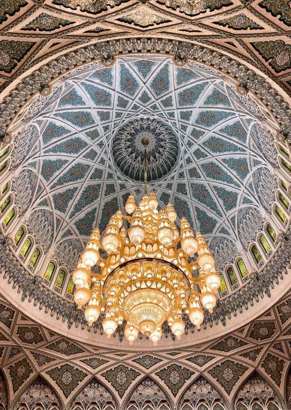 Grande mosquée de Mascate. © Emmanuel Laveran.