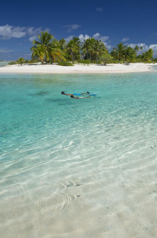 Snorkelling sur l'île de Tikehau © Tahiti Tourisme