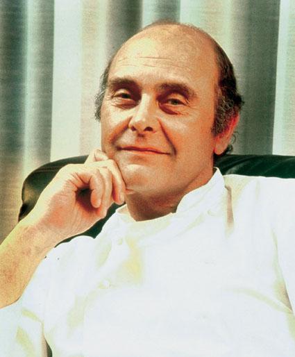 Portrait du chef Alain Chapel, disparu en 1990. Il fut de l'une des figures incontournables de la Nouvelle Cuisine © DR