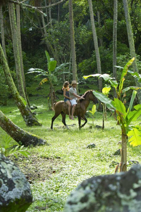 Promenade à cheval sur l'île de Rurutu © Tahiti Tourisme