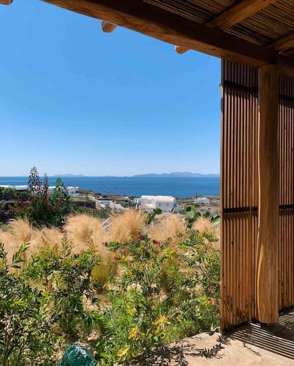 Andronis Arcadia | La vue depuis l'espace de repas du spa © YONDER.fr | PG