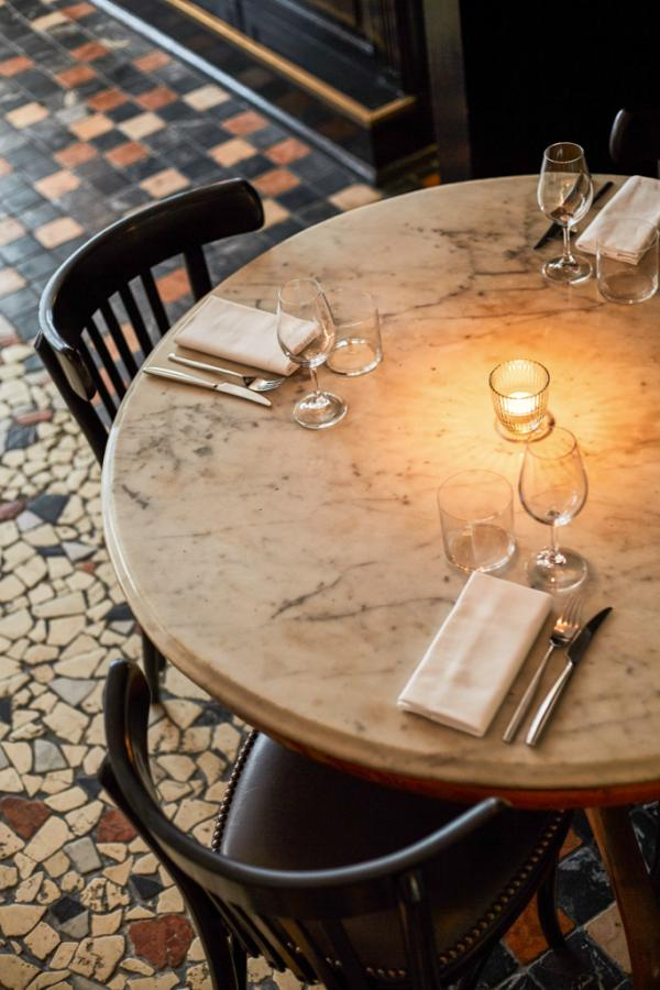 Décor soigné dans le nouveau restaurant de Simone Tondo © Tondo