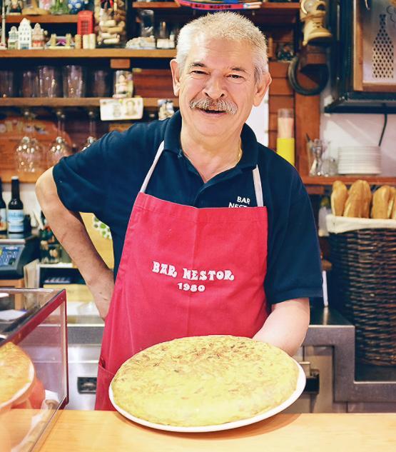 La tortilla servie quotidiennement à 13h et 20h au Bar Néstor © Bar Néstor