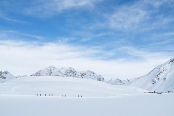 Les pistes de ski de fond autour du lac de l'Ouillette sont parmi les plus belles des Alpes © YONDER.fr