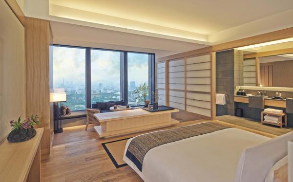 Chambre Deluxe : 71 mètres carrés de pur luxe | © Aman Resorts