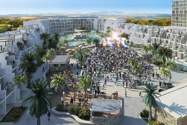 La scène où se dérouleront les concerts et shows tous les vendredi | © Hard Rock International